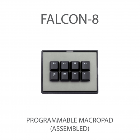 MAX FALCON-8 RGB Programmable mini macropad mechanical keyboard (With Media Pack Backlit Keycap)