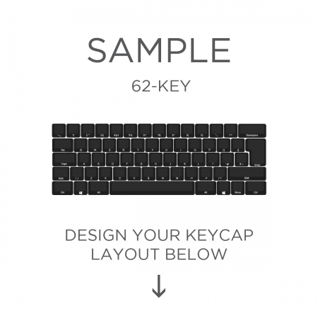 AN EXAMPLE: Max Keyboard ISO Layout Custom Backlight Keycap Set (SIDE PRINT)