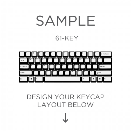 AN EXAMPLE: MAX Keyboard ANSI Custom White Translucent Top Print Backlight Keycap Set (60%)