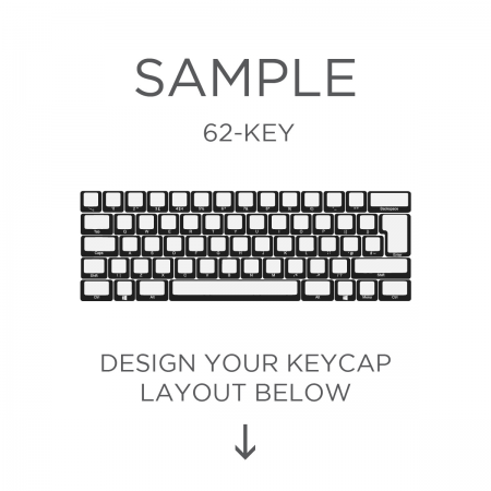 AN EXAMPLE: MAX Keyboard Custom White Translucent Side Print Backlight Keycap Set (60%)