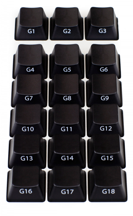 MAX KEYBOARD Cosrsair K95 18 MACRO G-KEYS with FRONT SIDE PRINT