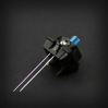 Example: Max Keyboard Blue 3mm Flangeless Replacement LED mounted on Cherry MX Switch