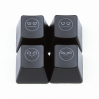 "Max Keyboard R4 / B profile row 1x1 Cherry MX ""Unamused face"" Custom Backlight Keycap Set"
