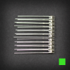 Max Keyboard Green 3mm Flangeless Replacement LED for Backlit Mechanical Keyboard (10 pcs)