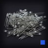 Max Keyboard Blue 3mm Flangeless Replacement LED for Backlit Mechanical Keyboard (110 pcs)