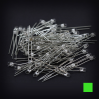 Max Keyboard Green 3mm Flangeless Replacement LED for Backlit Mechanical Keyboard (110 pcs)