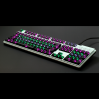 AN EXAMPLE: Max Keyboard Universal Cherry MX Translucent Clear Black Full Keycap Set (Front Side Print)