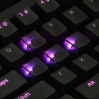 AN EXAMPLE: Max Keyboard Custom Black Translucent Cherry MX Blank Keycap Set for ESC, W,A,S,D or E,S,D,F and Arrow Keys