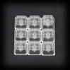 Max Keyboard custom Clear Translucent Cherry MX Blank Keycap Set for ESC, W,A,S,D or E,S,D,F and Arrow Keys