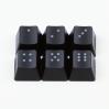 "Max Keyboard R4 / E profile row 1x1 Cherry MX ""Dice"" Custom Backlight Keycap Set"