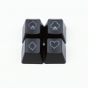 "Max Keyboard R4 / B profile row 1x1 Cherry MX Poker ""Cards Symbols"" Custom Backlight Keycap Set"