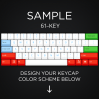 AN EXAMPLE: Max Keyboard 61-Key Layout Custom Color Cherry MX Full Replacement Keycap Set