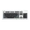 MAX ANSI Bi-Color Black/Gray PBT 104-key Cherry MX Keycap Set with 6.0x spacebar bottom row