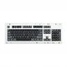 MAX ANSI Bi-Color Black/Gray PBT 104-key Cherry MX Keycap Set with 6.0x spacebar bottom row