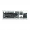 MAX ANSI Bi-Color Black/Gray PBT 104-key Cherry MX Keycap Set with 6.25x spacebar bottom row