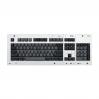 MAX ANSI Bi-Color Gray/Black PBT 104-key Cherry MX Keycap Set with 6.0x spacebar bottom row