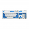 MAX ANSI Bi-Color PBT (White/Blue) 104-key Cherry MX Keycap Set with 6.25x spacebar bottom row