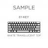 AN EXAMPLE: MAX Keyboard Custom White Translucent Top Backlight Keycap Set (60%)