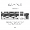 MAX Keyboard Custom White Translucent Side Print Backlight Keycap Set