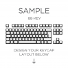 AN EXAMPLE: MAX Keyboard Custom White Translucent Side Print Backlight Keycap Set (88-KEY TKL)