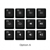 Max Keyboard Mac Media Function Hotkey Shortcuts Keycap Set (OPTION A)