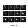 Max Keyboard Mac Media Function Hotkey Shortcuts Keycap Set (OPTION B)