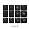 Max Keyboard Mac Media Function Hotkey Shortcuts Keycap Set (OPTION C)