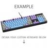 AN EXAMPLE: Max Keyboard Nighthawk Z Custom Color Mechanical Keyboard with Side Print