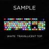 MAX Keyboard ANSI Custom White Translucent Top Backlight Keycap Set