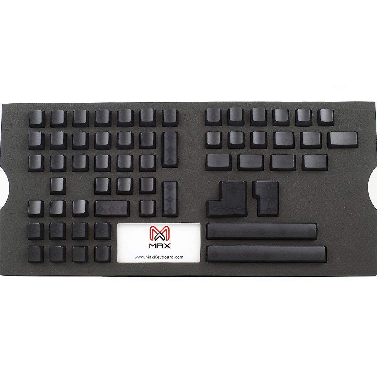 Max Universal Cherry MX Black Translucent Full Keycap Set (Blank)