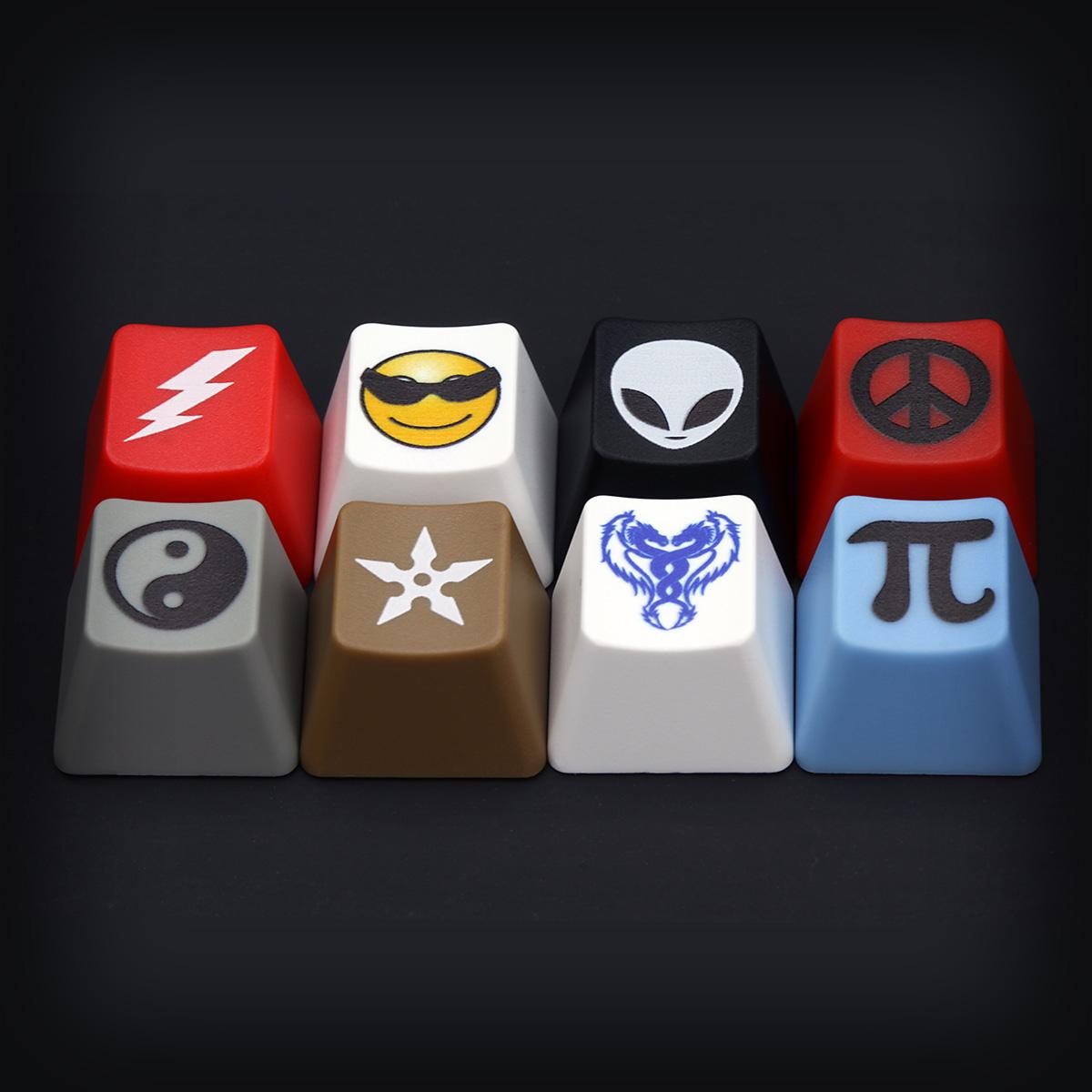 Custom Art Icon or Text Cherry MX Keycaps