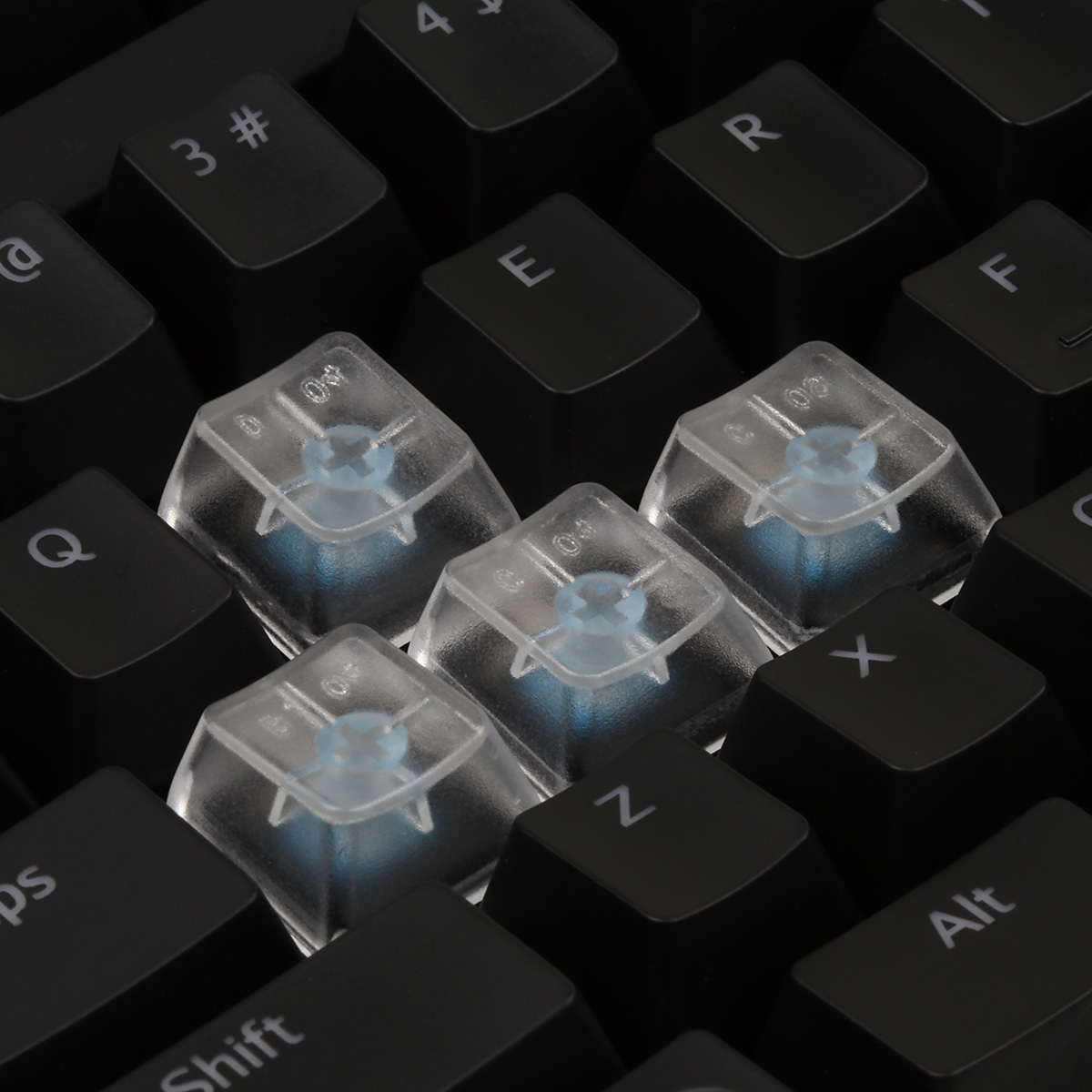 Max Keyboard Clear Translucent Cherry Mx Blank Keycap Set