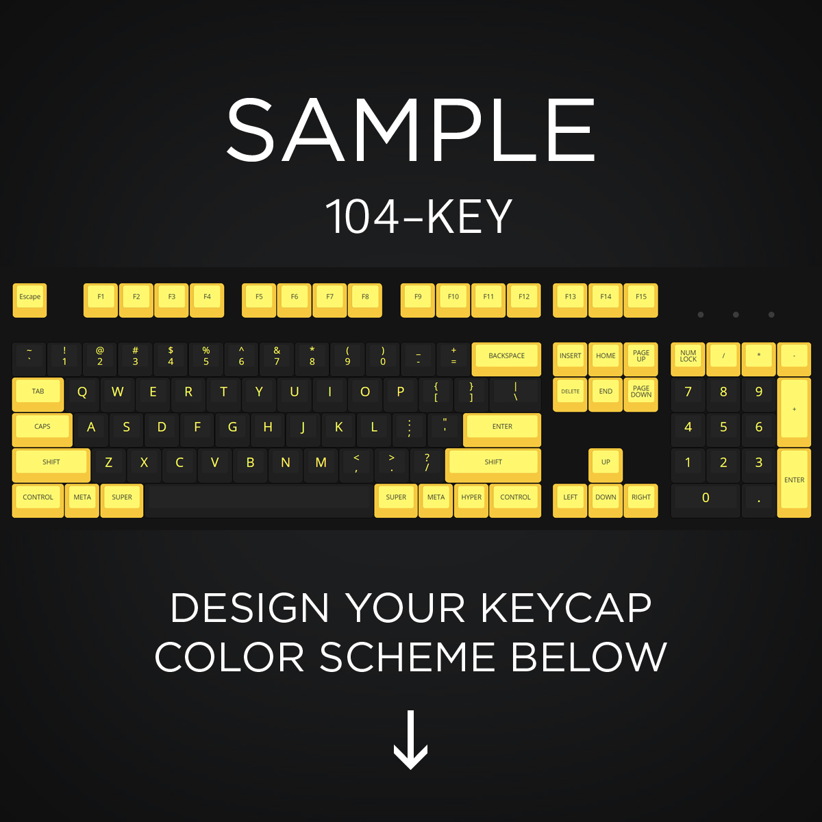 500296e8f40 AN EXAMPLE: Max Keyboard 104-Key Layout Custom Color Cherry MX Full  Replacement Keycap ...