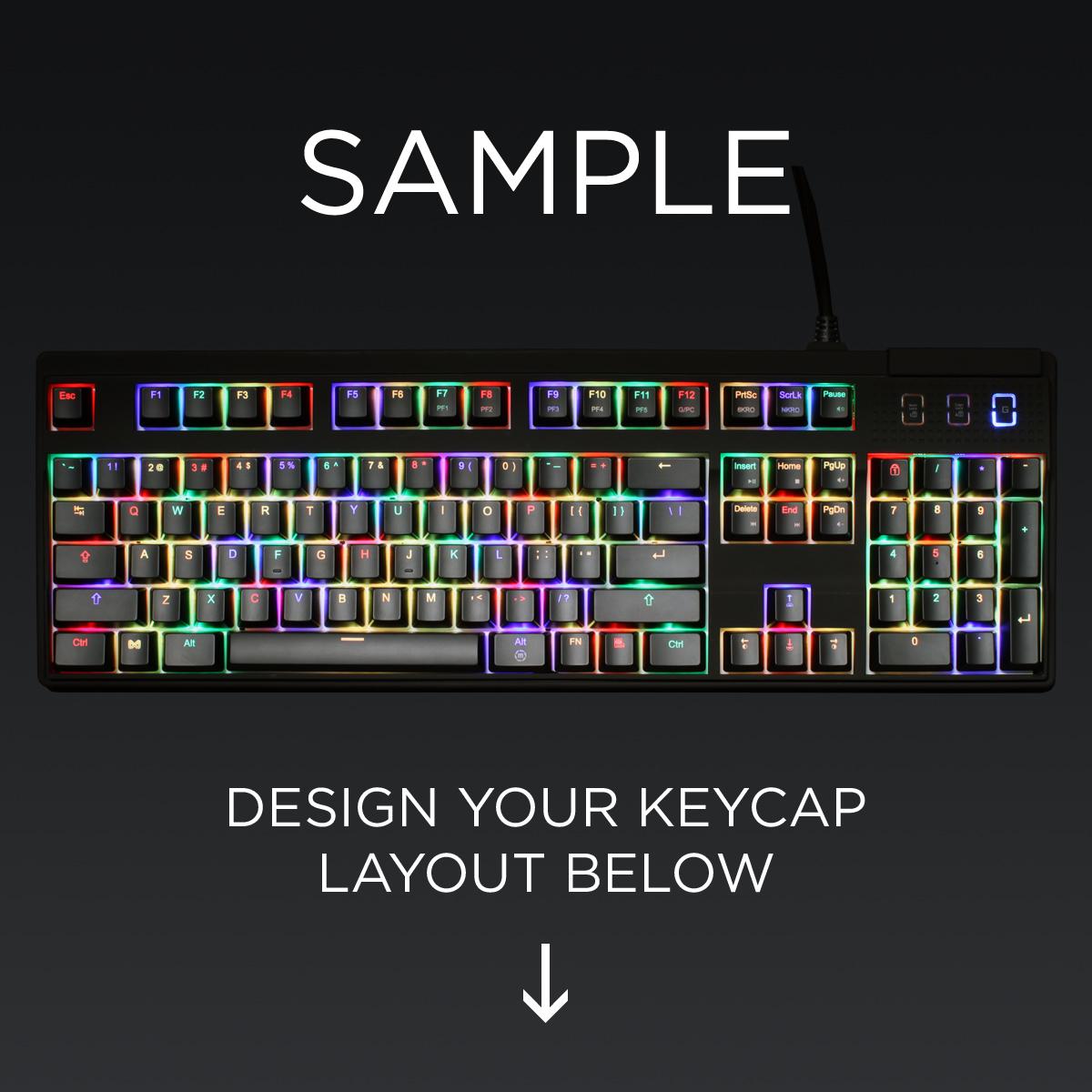 ANSI Layout Custom Backlight Cherry MX Keycap Set (TOP PRINT)