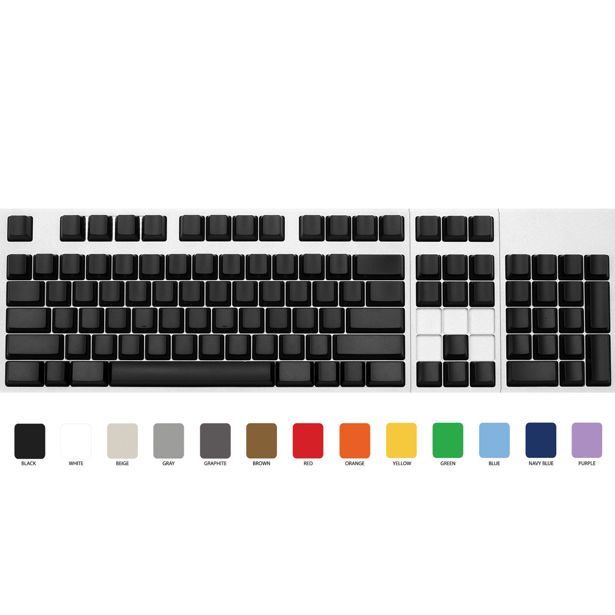 Max ANSI 104-key Cherry MX Replacement Keycap Set (Blank)