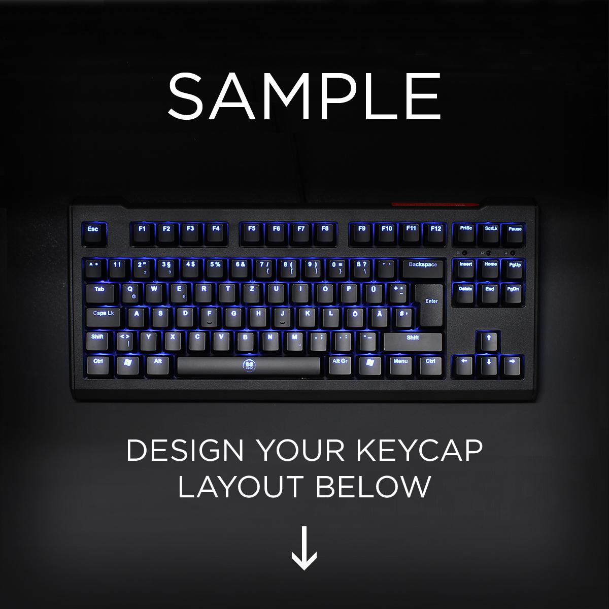 ISO Layout Custom Backlight Cherry MX Keycap Set (TOP PRINT)