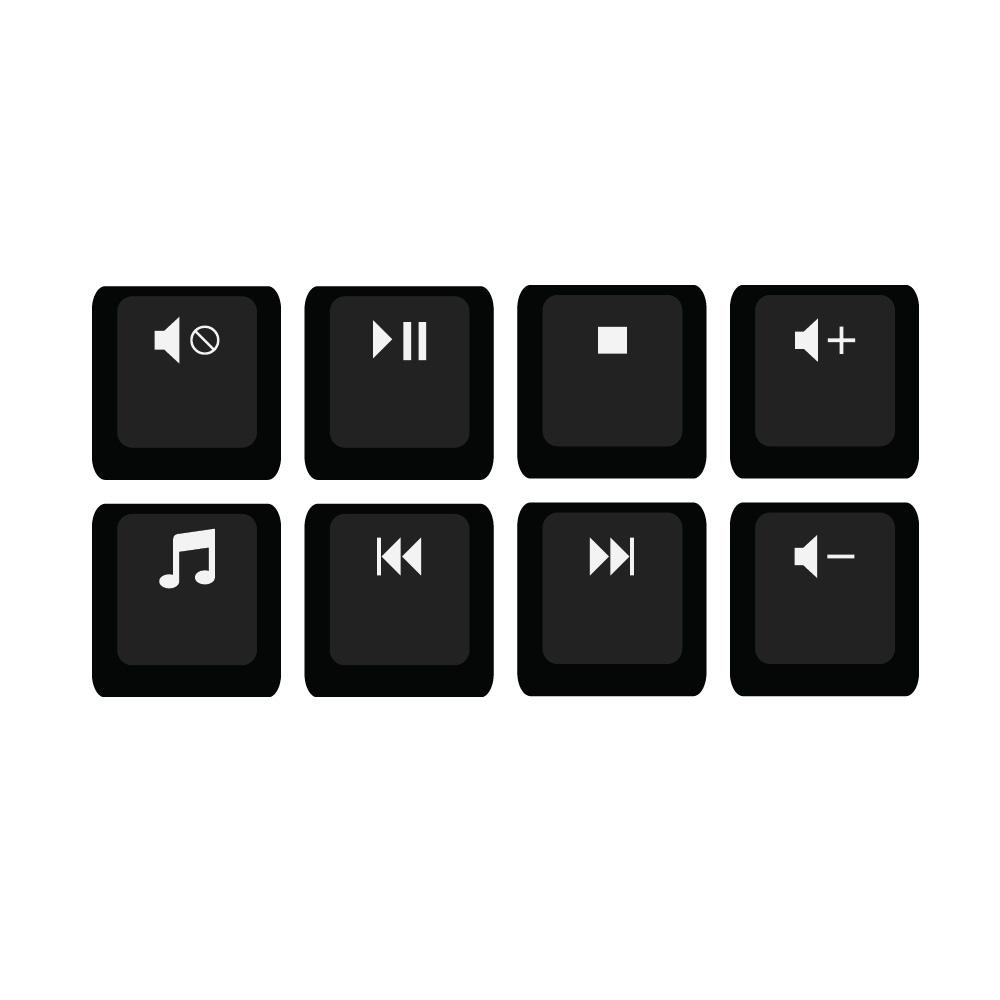 R4 1x1 Media F-Key Shortcuts Keycap Set