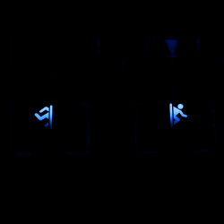 "Max Keyboard R1 / B profile row 1x1.5 Cherry MX ""Portal"" Custom Backlight Keycap Set"