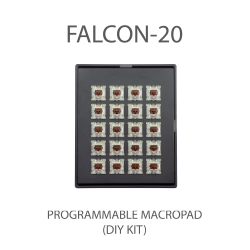MAX FALCON-20 RGB Programmable mini macropad mechanical keyboard (DIY KIT)
