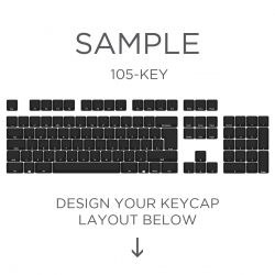 Max Keyboard ISO Layout Custom Backlight Keycap Set (SIDE PRINT)