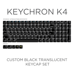 Keychron K4 Custom Black Translucent Keycap Set