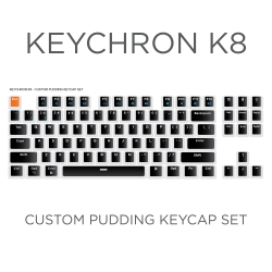 Keychron K8 Custom Black Pudding Keycap Set
