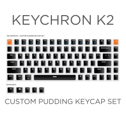 Keychron K2 Custom Black Pudding Keycap Set
