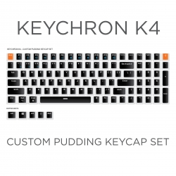 Keychron K4 Custom Black Pudding Keycap Set