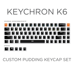 Keychron K6 Custom Black Pudding Keycap Set