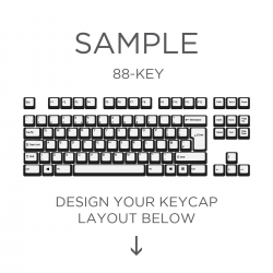 AN EXAMPLE: Max Keyboard ISO Custom White Translucent Top Backlight Keycap Set (TOP PRINT)