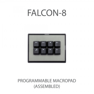 MAX FALCON-8 RGB Programmable mini macropad mechanical keyboard (With Media Pack Backlit Keycap)