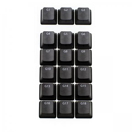 MAX KEYBOARD Cosrsair K95 18 MACRO G-KEYS with FRONT SIDE PRINT