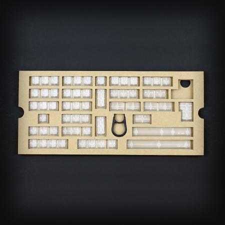 Max Universal Cherry MX Clear Translucent Full Keycap Set (Blank)