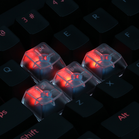 An Example: Max Keyboard Custom Clear Translucent Cherry MX Blank Keycap Set for ESC, W,A,S,D or E,S,D,F and Arrow Keys